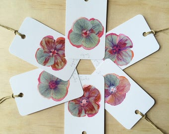 Gift Tags Poppy Patch x6
