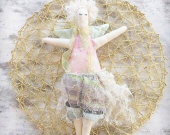Handmade Cloth Fairy Doll about 34 cm tall by NoosaForestFairies