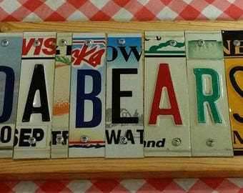 Chicago Bears License Plate Sign
