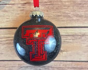 Texas Tech Glitter Ornament