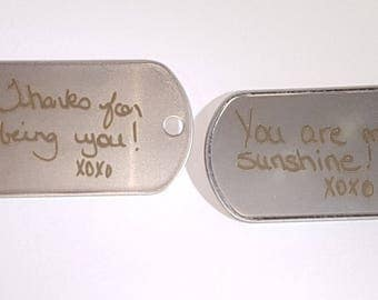 Custom Laser'd Military Dog Tag | 304 Steel | Burn Your Text/Image Deep, High Res!
