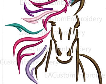 Horse Embroidery Design Horse Head Embroidery Design Horse Head Outline