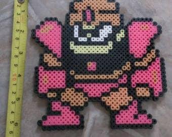 Guts Man Mega Man Perler