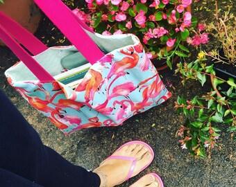 """Bag """"tot bag"""" Flamingo"""