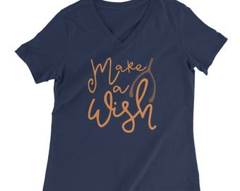 Make a Wish T-Shirt - Wishbone - Turkey Day - Shirt - Thanksgiving