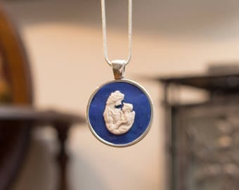 Mother and Child Cameo Necklace