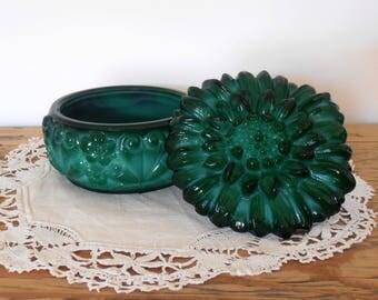 Fair vintage opalescent jewel box