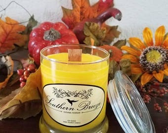Wood wick 8oz  soy candle