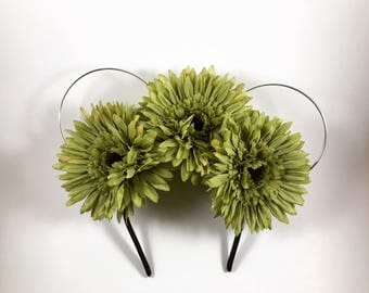 Fauna-Inspired Wire Floral Mickey Ears