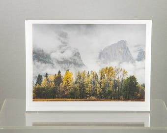Yosemite Falls with Autumn Colors, Yosemite National Park - Greeting Card