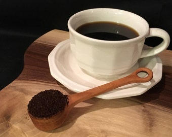 Hand carved coffee scoop