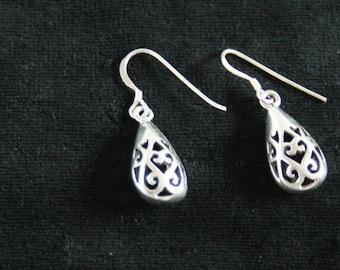 Pure silver earrings
