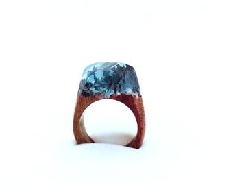 Wooden resin ring REC_R01