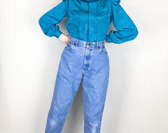 LEE Vintage Jeans 29 High Waisted Straight Leg 1990s Mom Jeans Womens 29 Inches // Women's Size 6 8 10 - 28 29 30