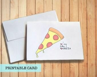 Pizza Love | PRINTABLE CARD
