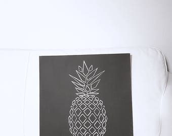 Geometric pineapple wooden table