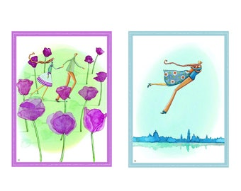 Fine Art in love print Giclée A4 21 x 30 cm of my illustrations