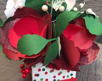 Christmas Paper Flower Arrangment