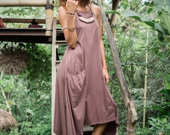Castaway dress - size 8-14 comfortable casual goddess warrior sensual wild earthy natural organic cotton raw boho gypsy barefoot dance dress