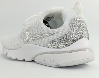 Custom swarovski crystal Nike Presto Fly White