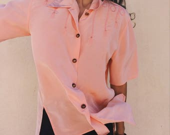 Vintage peach shirt