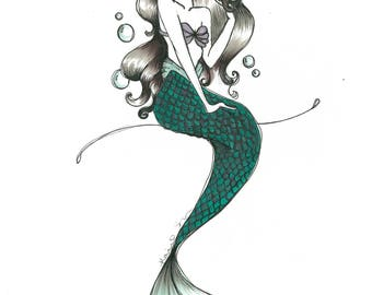 Disney The Little Mermaid- Ariel Inspired Drawing