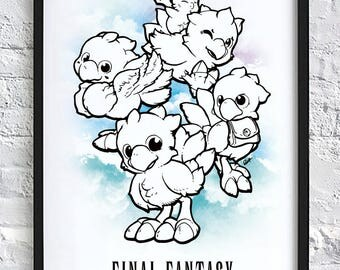 Final Fantasy Chocobo Print