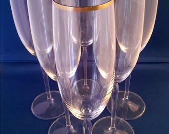 Schott Zwiesel Carisma Gold Champagne Flute Rare Item