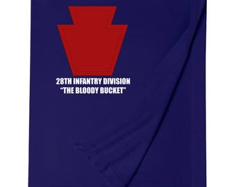 28th Infantry Division Embroidered Blanket-7453