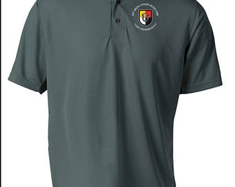 3rd Special Forces Group Embroidered Moisture Wick Polo Shirt -3682