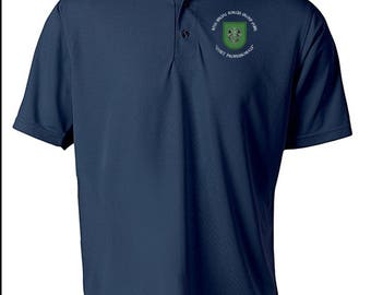 10th Special Forces Group Embroidered Moisture Wick Polo Shirt -3732