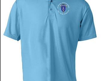 8th Infantry Division (Airborne) Embroidered Moisture Wick Polo Shirt -6486