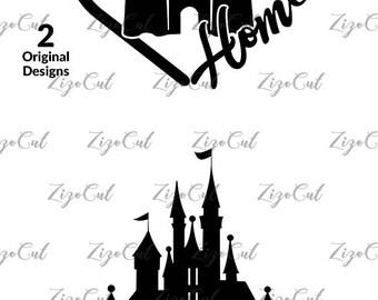 Castle SVG, Castle Home svg, Disney Svg, Castle Disney Svg.