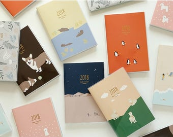 2018 Make it count today, diary / note / line note / scheduler / calender / 2018 diary / planner