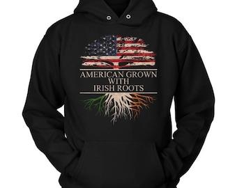 American Grown With Irish Roots Hoodie