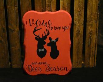 Deer Season Wooden Sign