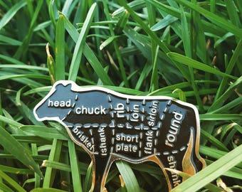 Butcher chart pin