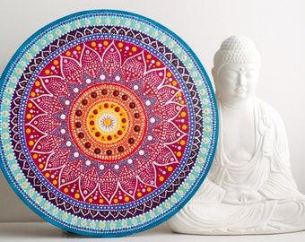 Mandala painting Boho Mandala Gift Boho Mandala Art Ethnic Mandala Art Bohemian Wall Art Mandalas Yoga Art, Gift for Yoga Mom