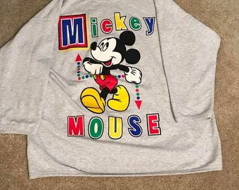 90s Mickey Mouse Shirt Top Sleepwear - Size 1X