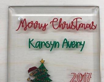 Crstal Ornaments - personalized (Sandblasting, Laser Etched, Color Printed)