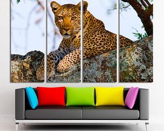 Leopard, Leopard canvas, Leopard decor, Leopard wall art, Leopard photo, Leopard print, Leopard home decor, Leopard art, Canvas print