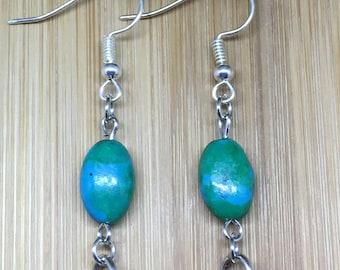 Blue-Green Earrings