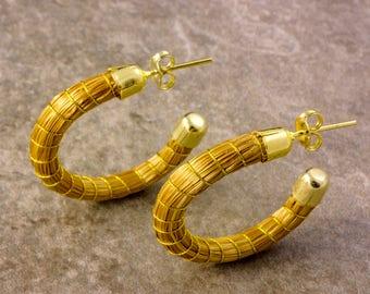 Daniela Golden Grass Earrings