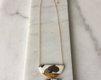 Half Moon Drop Necklace