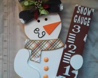 Snowman Snow Gage