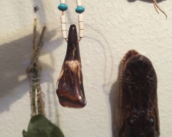 buffalo tooth necklace