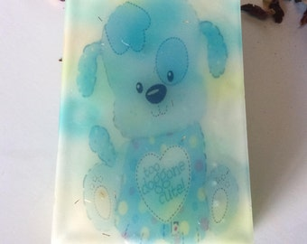 Handmade organic soap,party gift, too doggone cute, t is a boy baby shower gift