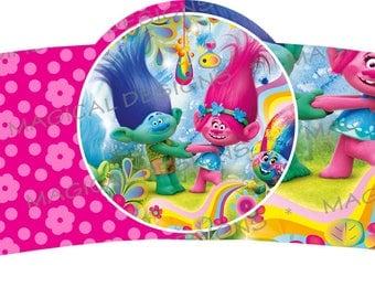 Trolls Themed Plate and Cup sleeve