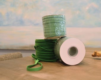 Special Order Wholesale Velveteen Ribbon Green Collection / Pre-Order Rolls / Green Collection / ER-POGC-1
