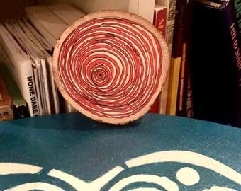 Tree Rings painted on Wood